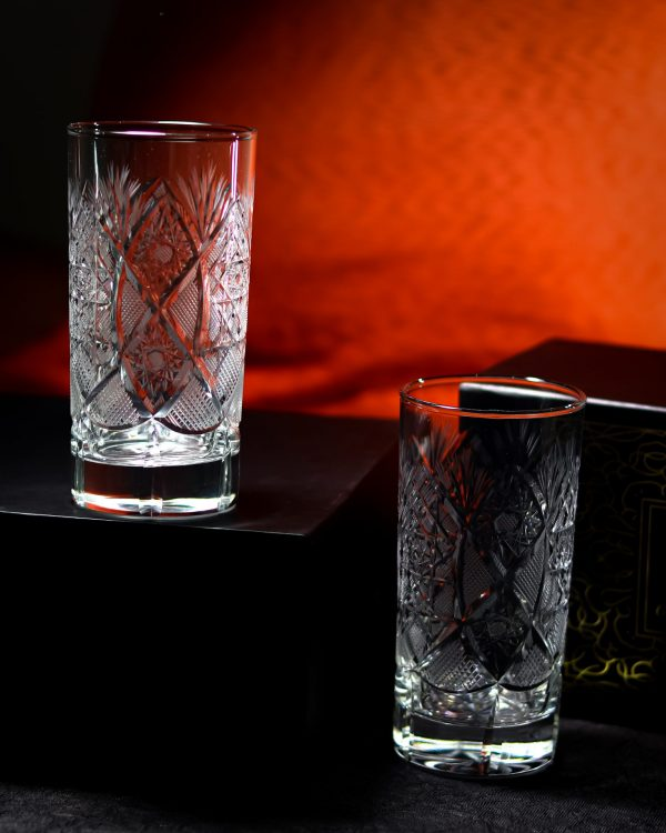 Unique Crystal Highball Glass 6